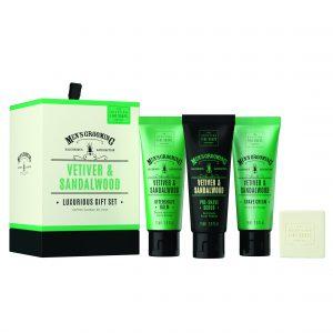 Men's Grooming Vetiver & Sandalwood Luxurious Gift Set